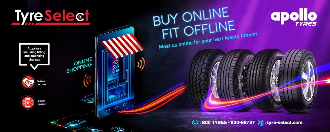 Buy Online Fit Offline - Apollo Tyres